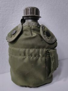 Tactical Military 1qt Canteen & Cover with Realese Clips and Side Pouch OD GREEN