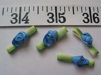 7137 Ribbon Roses Flowers Medium Blue 1x1/2 36 Pcs
