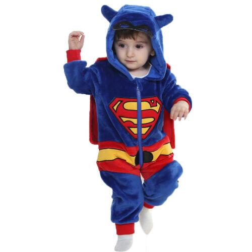 Unisex Baby Toddlers Winter Long Sleeve Pajamas Animal Costume Cosplay Romper