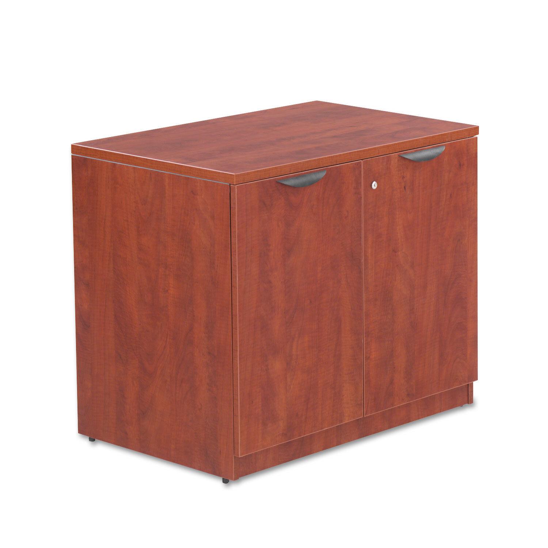 Alera Valencia Series Storage Cabinet, 34w x 22 3 4d x 29 1 2h, Medium Cherry