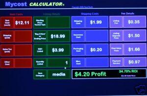 ebay profit break even calculator excel spreadsheet new ebay