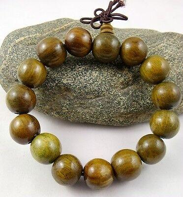 14mm Green Sandalwood Beads Tibetan Buddhism Bracelet