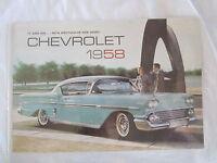 1958 Chevrolet Car Sales Catalog Color Must Have Item