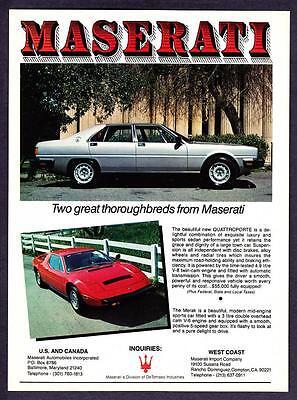 "1981 Maserati Quattroporte Sedan & Merak Coupe photo ""2 ..."