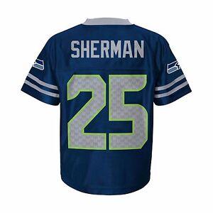 La foto se está cargando NFL-2018-Seattle-Seahawks-Richard-Sherman-25-Con- 130c0f9f07d