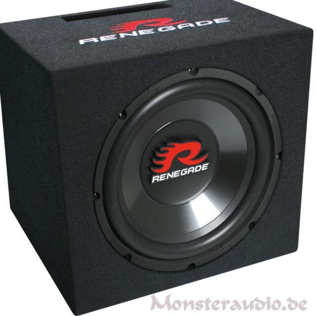 """Renegade RXV-1200 30cm Subwoofer 600 Watt 12"""" Bassreflex Basskiste PKW Bassbox"""