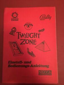 "Pinball/Pinball ""TWILIGHT ZONE BALLY manual"