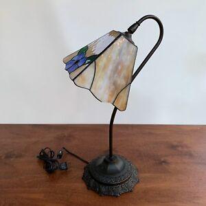 Tiffany-Stile-Liberty-Lampada-da-tavolo-in-vetro-al-piombo