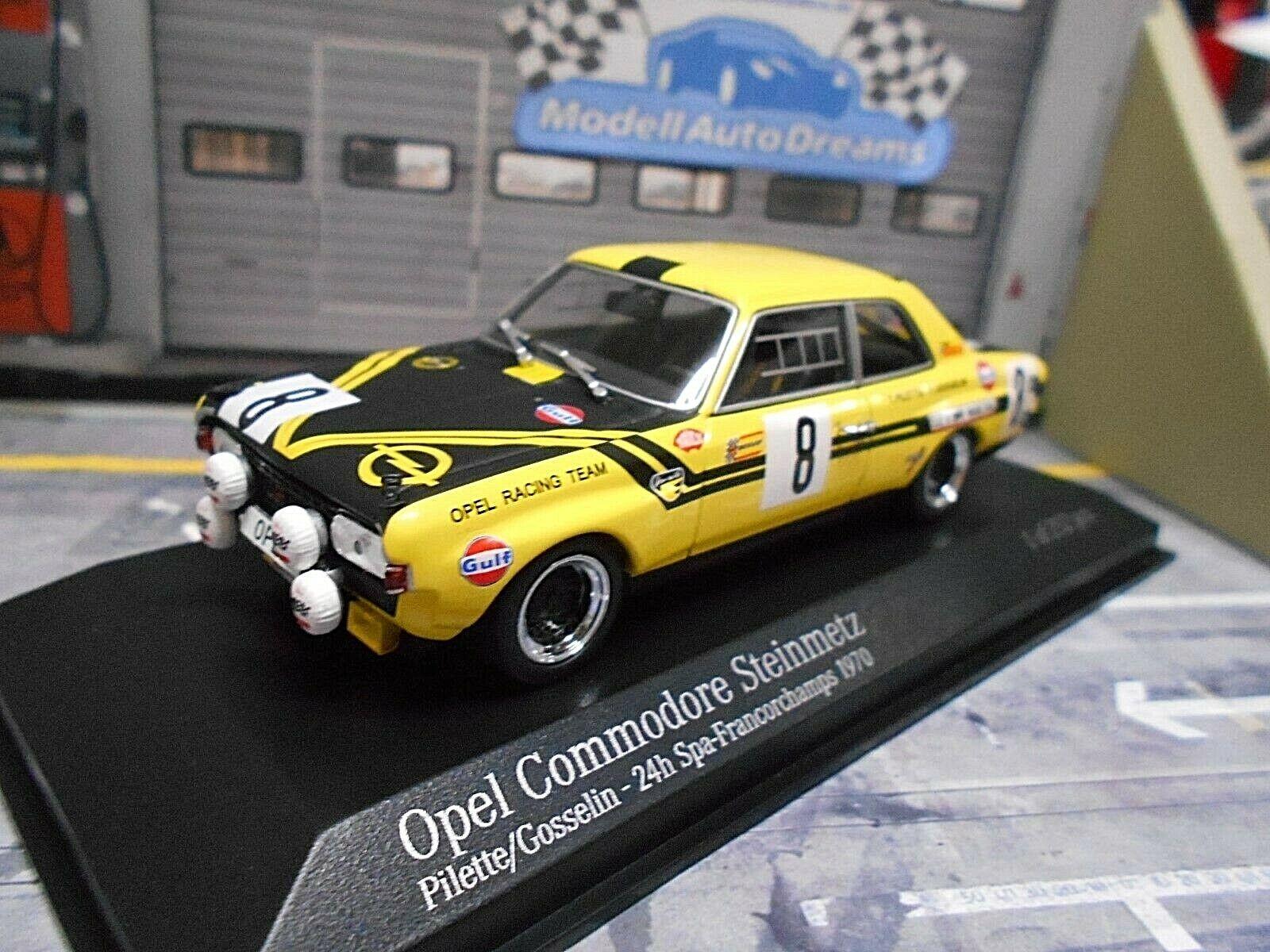 OPEL COMMODORE A PIETRA Metz 24h SPA 1970  8 PILETTE Gosselin Minichamps 1 43