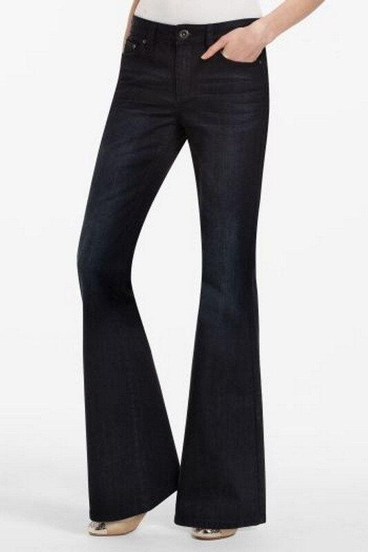 BCBG MaxAzaria bluee Moon Alexander Grande Flare Jeans Size 27