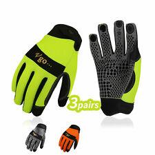 Vgo 3pairs Synthetic Leather Work Glovesmechanic Glovesoutdoor Glovessl7895