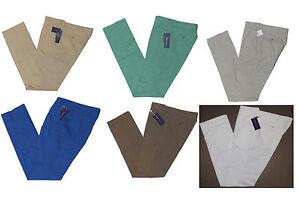 350-Ralph-Lauren-Purple-Label-Mens-Flat-Front-Cotton-Casual-Dress-Pants-New