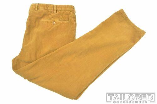 INCOTEX Mustard Yellow CORDUROY Cotton Mens FF Lux