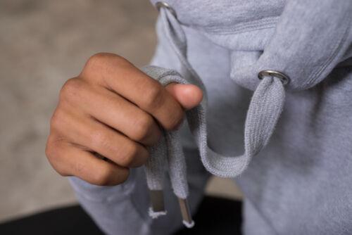 Chunky Unisex Cross Neck Hoodie Hooded Sweatshirt Sweat Heavyweight Casual