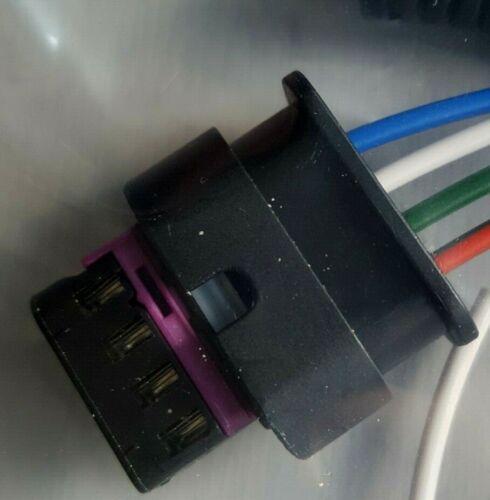 Masa de flujo de aire de asiento 4 Pin Conector 4F0973704 4H0973704 pre-cableado Freepost