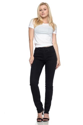 New Ladies Missy Women Stretch Jeans Skinny Leg Black Twill Basic Jeans SG-16359