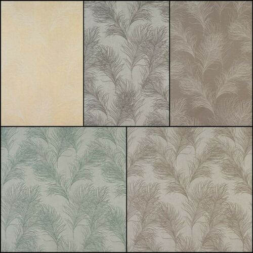 FryettsFeather Floral Jacquard Curtain Blind Craft Fabric5 Colours