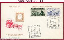 ITALIA FDC POSTE ITALIANE DILIGENZA BRINDISI ROMA LEVANTE '89 1989 BARI U109