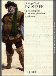 Verdi Falstaff Opera Completa Vocal Score Complet Piano Voix Partitions Livre-afficher Le Titre D'origine Apparence éLéGante
