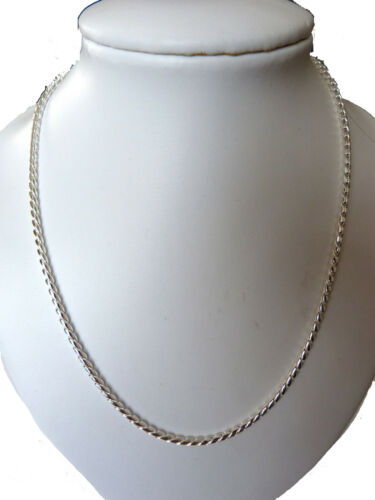 """SMART AND ELEGANT SILVER PLATED 18/"""" NECKLACE IN GIFT BOX FOR MALE OR FEMALE"""