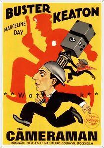 Buster-Keaton-The-Cameraman-1928-Vintage-Poster-Print-Retro-Movie-Film-Art