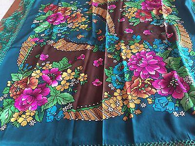 Foulard scialle scarf stola vintage seta silk soie 100%