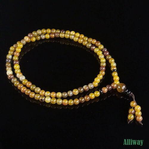 Natural Gemstone Stretchy Beaded Bracelet Necklace 6mm 108 Prayer Healing Beads