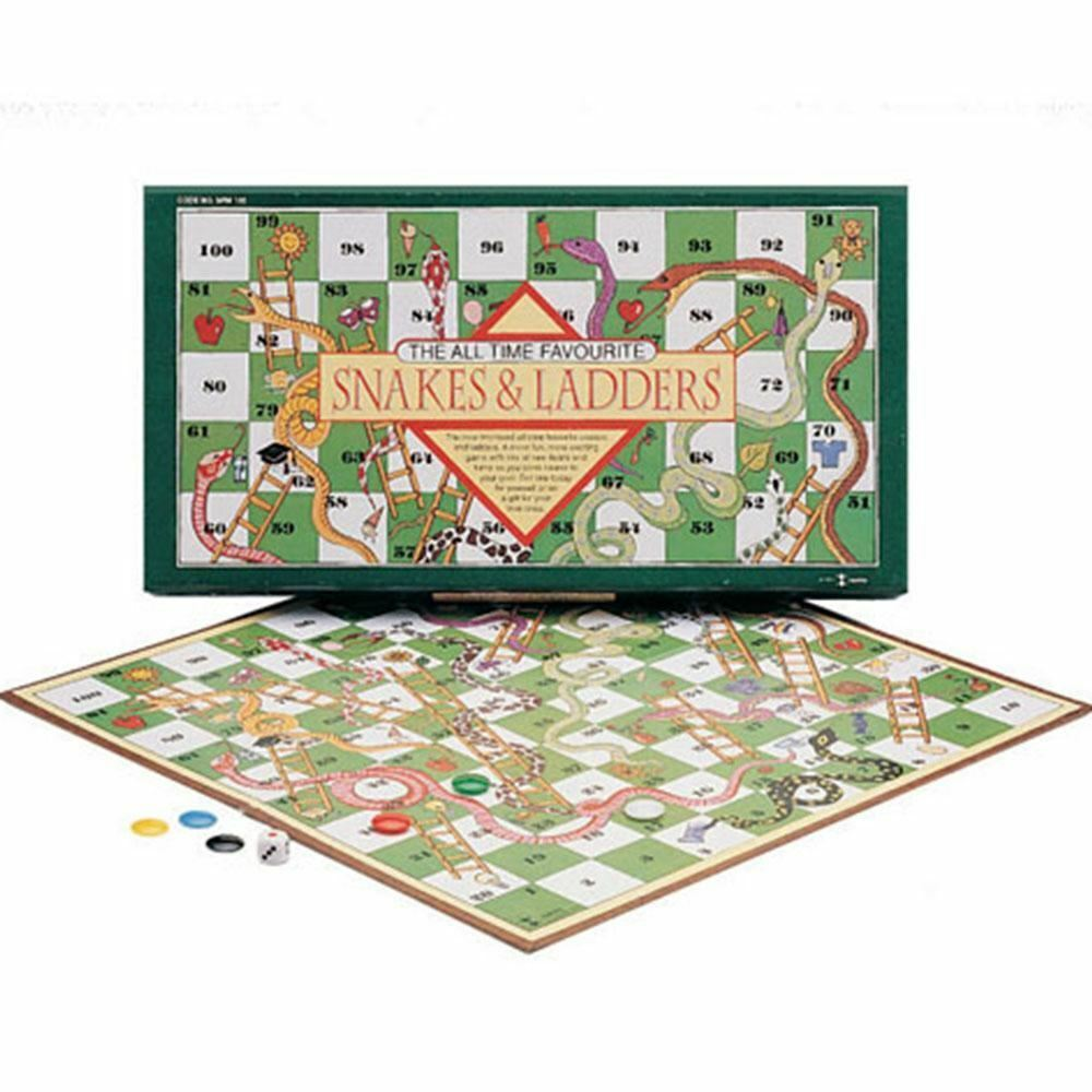 Snake And Ladders Family Competitive Interactive Board Games [SPM GAMES]