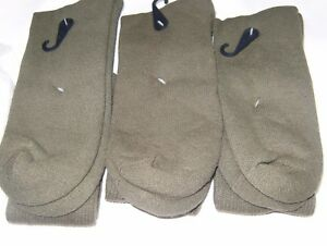 3-Pairs-Men-US-Army-Military-Issue-Anti-Fungal-USA-Made-Boot-Socks-GREEN-10-13