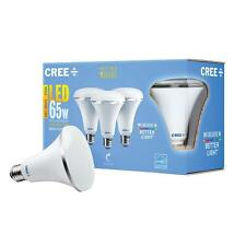 3 LED BR30 Cree LIGHT BULBS 65W Equivalent Soft White (2700K) Dimmable