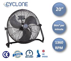"""20/"""" CICLONE alta velocità pavimento Fan-in acciaio massiccio-libero consegna il giorno successivo"""
