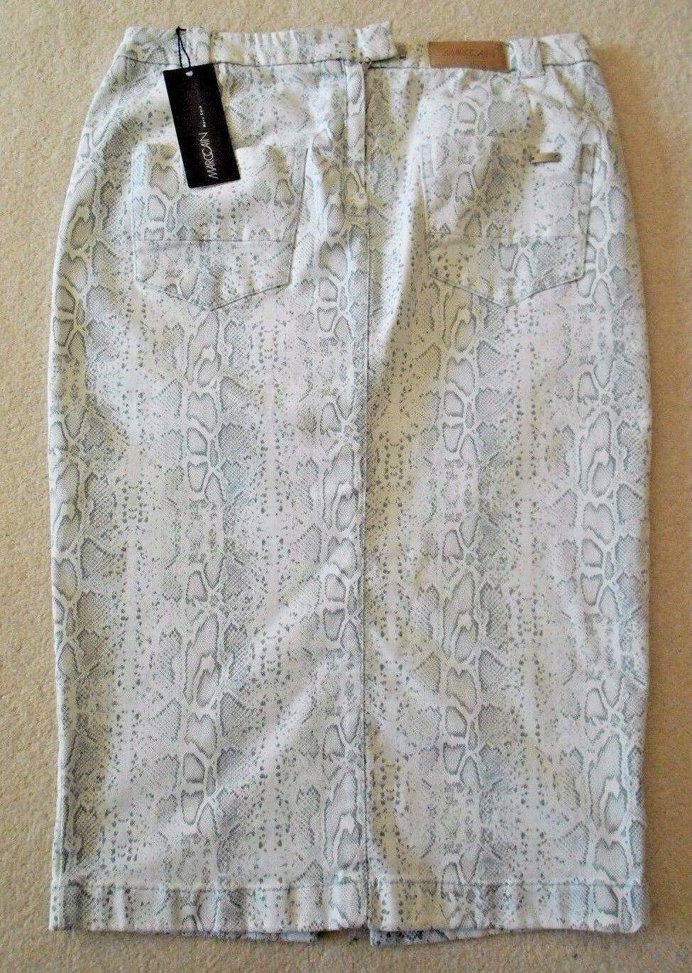 Marccain 'Snakeskin' Cotton Skirt - Size N 2