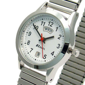 Ladies-Ravel-Quartz-Day-Date-Watch-Expanding-Bracelet-Silvertone-R0706-20-2EX