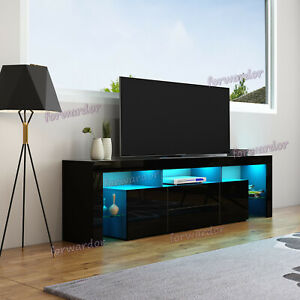 Modern-200cm-High-Gloss-RGB-LED-TV-Stand-Unit-Cabinet-Push-to-Open-Doors-amp-Drawers
