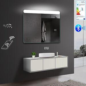 Details zu Bad Badezimmer Wand Spiegel LED Kalt-/Warmlicht  Bluetooth-Lautsprecher SMY101X80