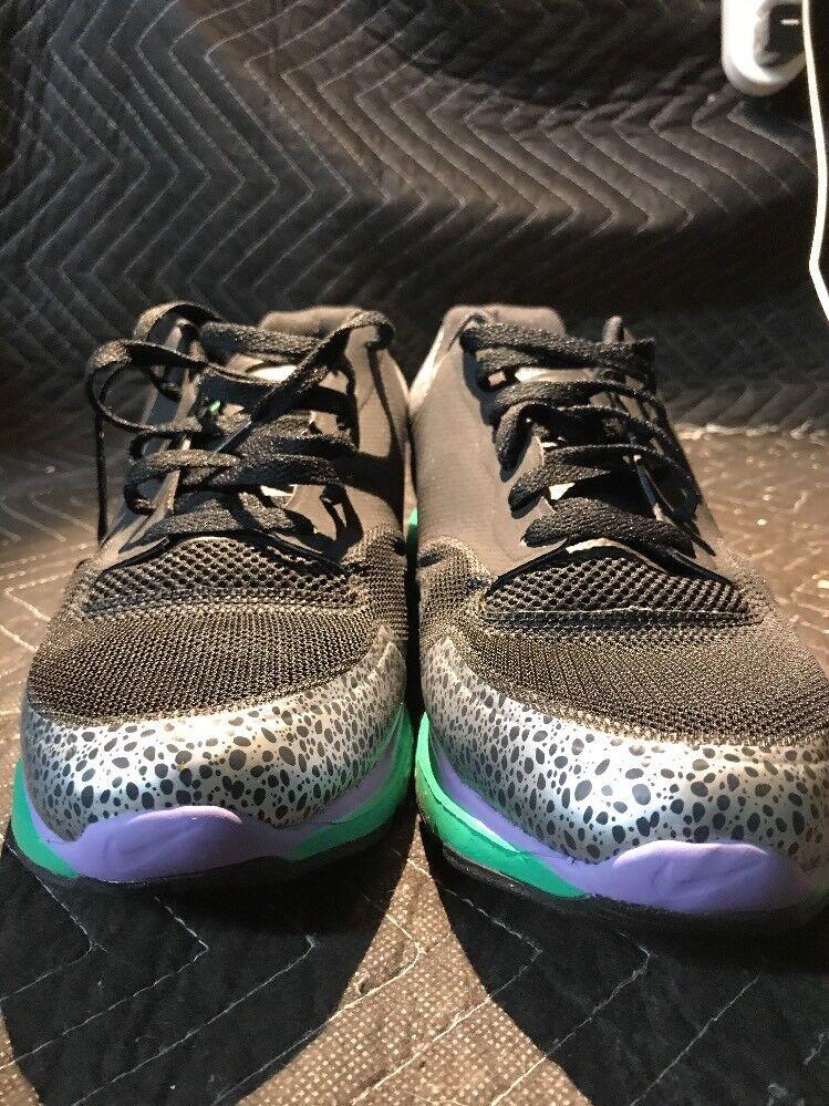 sale retailer 3dcb7 aa589 Nike Lunar Safari Fuse mens shoes shoes shoes 525059 073  Black silver purple green Size 11.5 a3b5f4