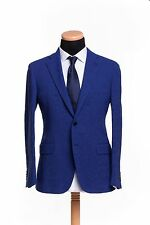BELVEST Hand Made in Italy Jacket Blazer 2Btn Cotton Twill Blue 46 US 56 EU 7 R