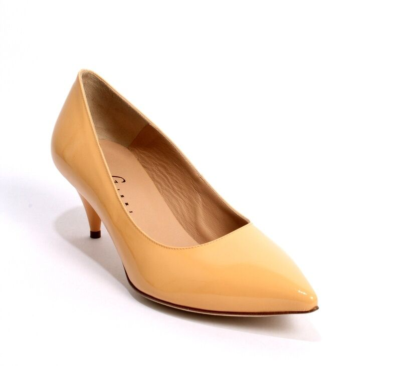 Gibellieri 1990f Apricot Patent Leather Pointy-Toe shoes 37   US 7