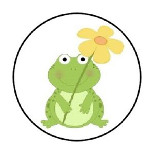 48-CUTE-FROG-FLOWER-ENVELOPE-SEALS-LABELS-STICKERS-1-2-034-ROUND