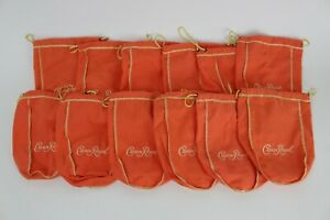 Lot of 12 Crown Royal Peach Drawstring Bags 750 ml quilt sewing crafts