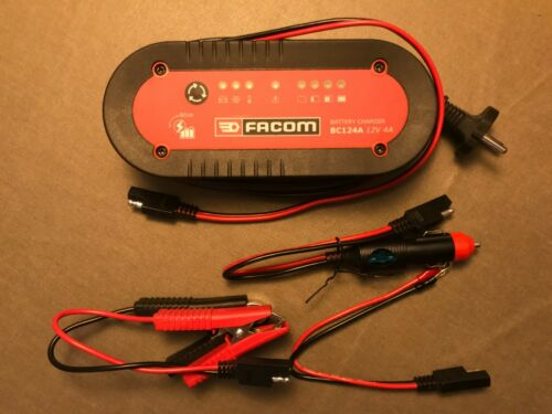 FACOM 12 Volts Chargeur de Batterie Pour Motos Et Voitures BC124A