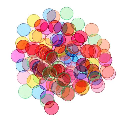 100 Pièces Chip jeton Magnétiques Ronds en Plastique Multicolore Bord en