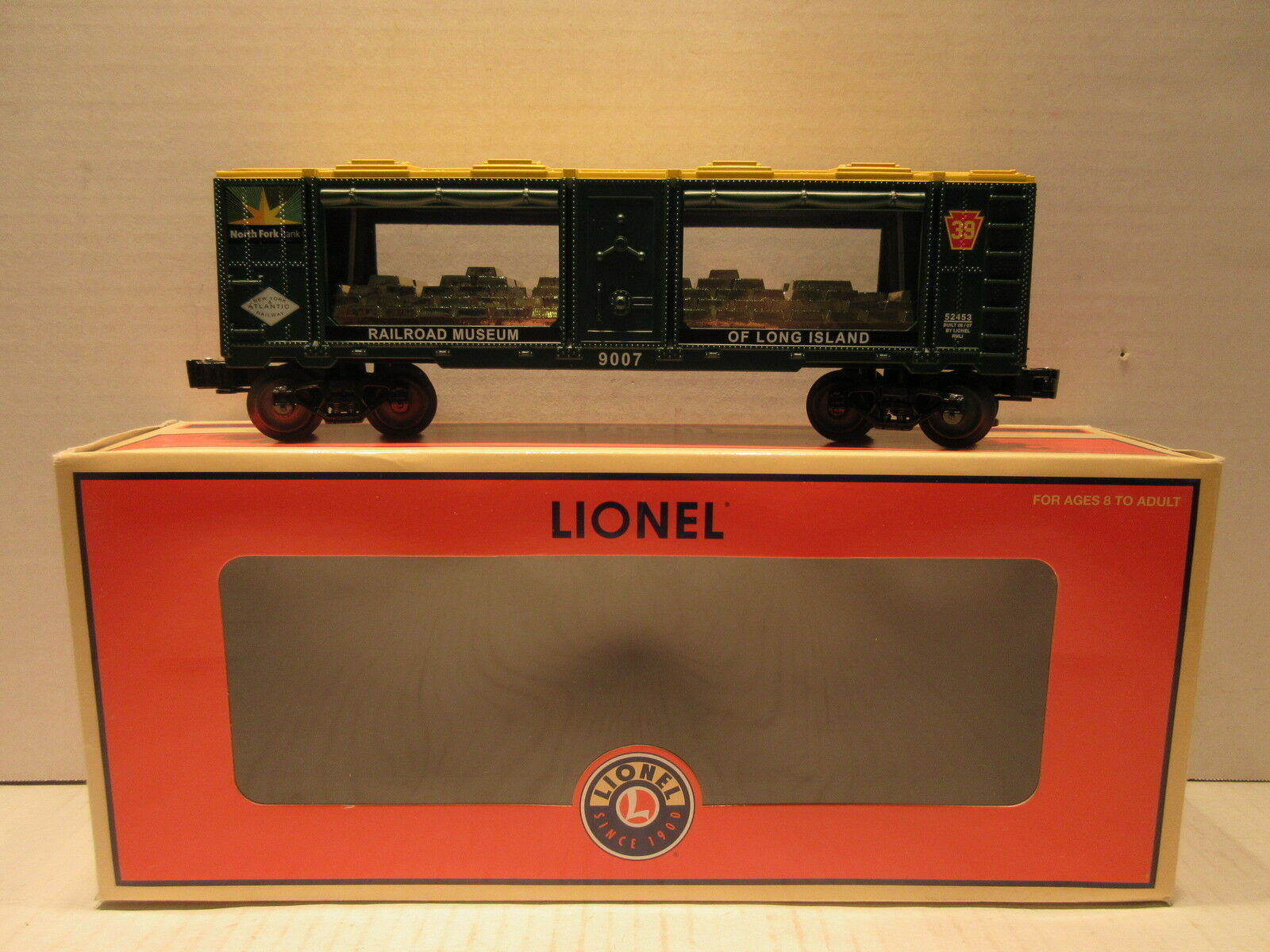 Lionel Train 6-52453 Railroad Museum Of Long Island North Fork Bank Mint Car