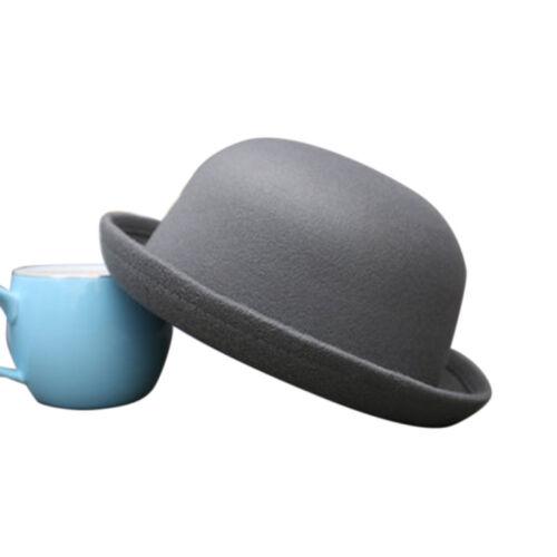 Unisex Women Men Ladies Vintage  Top Hat Roll Up Brim Derby Dome Hats UK