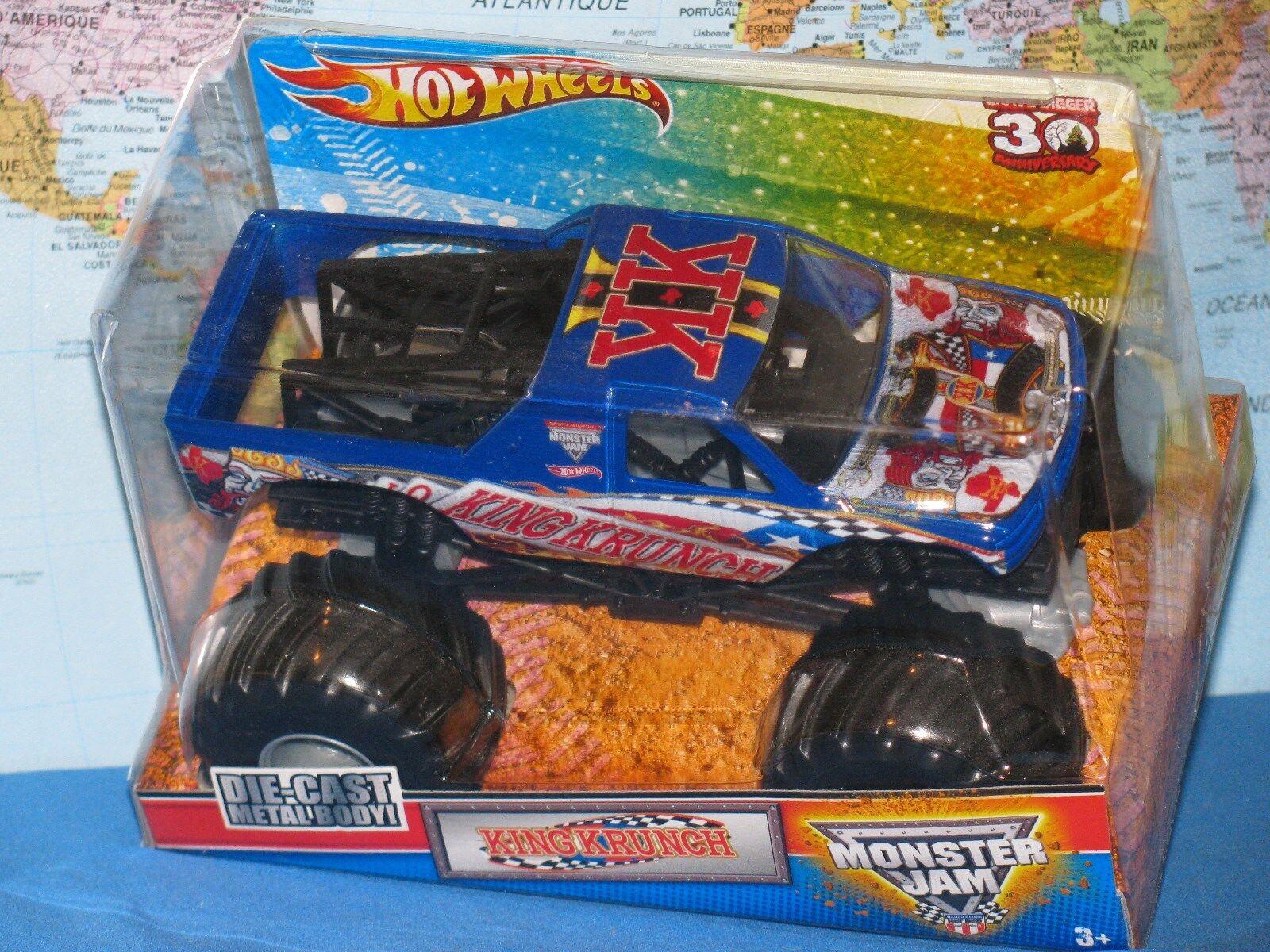 muchas sorpresas 1 1 1 24 Hot Wheels Mermelada de Monstruo Rey Krunch Camión 30 Aniversario  Ahorre 60% de descuento y envío rápido a todo el mundo.