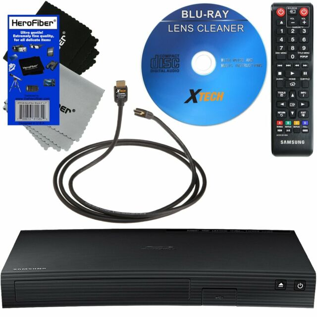 Remote Samsung BD-JM57C Wi-Fi Blu Ray Player with HDMI Cable Streaming Apps