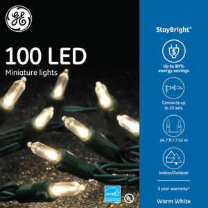 Ge Staybright 100 Count Warm White Mini Led String Lights