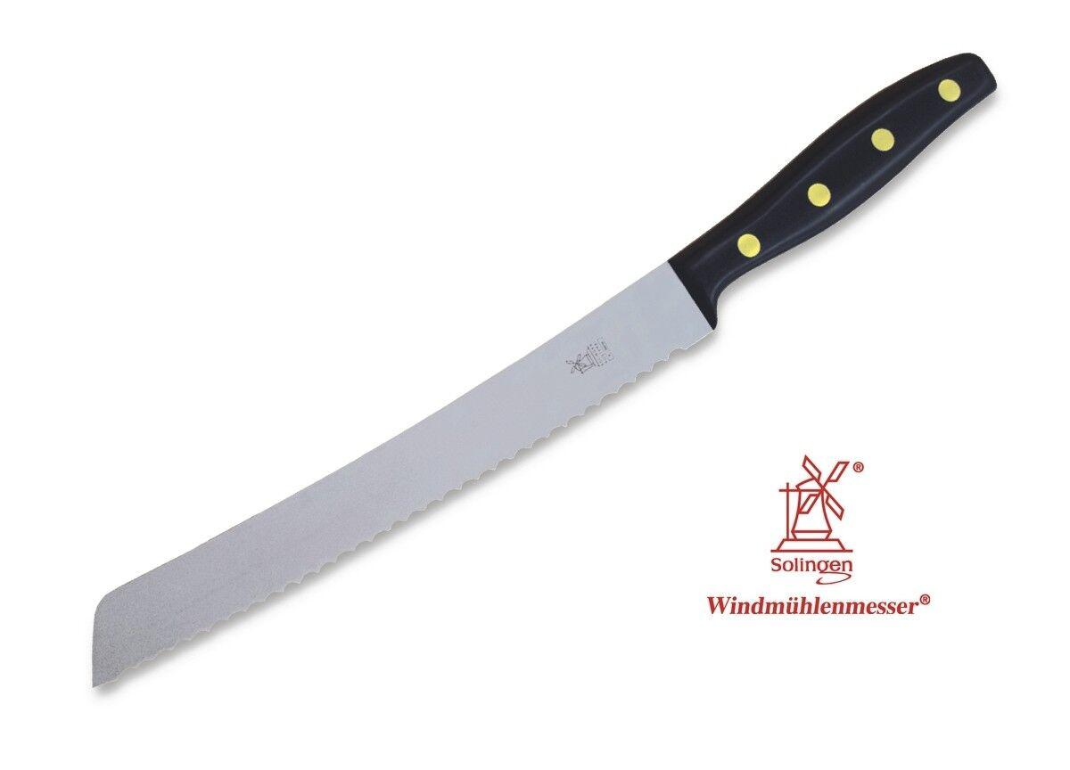 Herder Windmühle KB Brotmesser Brotsägemesser - - - Klinge  22,5 cm - Walnuss, POM 94043f