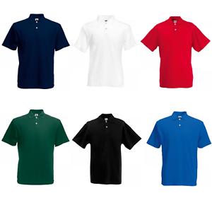 echt kaufen Original noch eine Chance Fruit of the Loom Poloshirt Polo Shirt Herren 100% Baumwolle ...