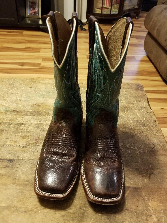 Ariat Men's Cowtown Western Cowboy Boot, Chocolate Bullfrog Print, 9 D US